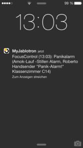 App Alarm Hinweis Beispiel: