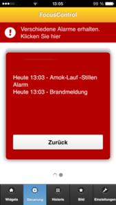 Alarmsysteme für Schulen, Behörden und öffentliche Gebäude App Alarm Hinweis